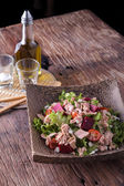 Tuna and vegetable salad — Stock Photo