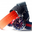 Watches and nylon watchbands — 图库照片