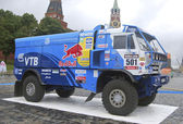 Kamaz truck racing — Stock Photo