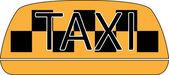 タクシー サイン — ストックベクタ