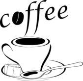 Taza de café — Vector de stock