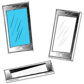 Sketch smartphone — Stock Vector