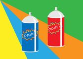 Paint spray cans — Stock Vector