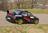 Mitsubishi Lancer Evolution rally car — Stockfoto