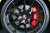 Porsche 911 car wheel close up — Stock Photo