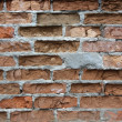 Of a dilapidated brick wall — Foto Stock