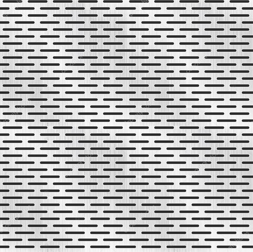 Perforated Metal Texture Seamless Pattern Stock Vector