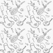 Seamless pattern on a theme kitchen — Stock Photo