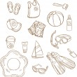 Stock Photo: Set of beach toys and accessories