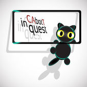 Cat bot in quest Climbs — Stock Photo