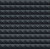 Background of acoustic foam wall, soundproofing, vector pattern — Stock Photo