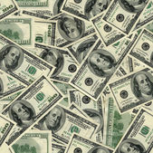 Seamless pattern of banknotes, money usa — Stock Photo