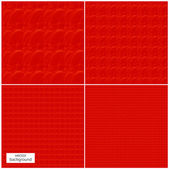 Seamless pattern red skin abstract vector background — Stock Photo