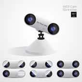 Webcam, glimlach set 1 — Stockfoto