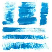 Textural strokes blue gouache paint — Stock Photo