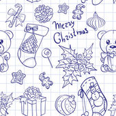 Merry Christmas congratulation doodle sketch banner — Stock Photo