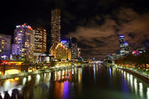 Yarra River Melbourne At Night — Stock Photo