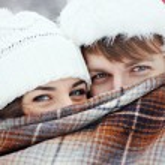 """ Winter love story "" — Stok fotoğraf"