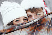 """ Winter love story "" — Stockfoto"