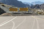 Road signs pointing to the right — Stockfoto
