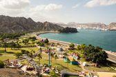 Coastline with amusement park — Stok fotoğraf