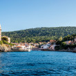 Meaditteraneam port with a church — Stock Photo #42615961