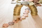 Bridge of coins — Stock Photo