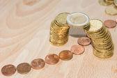 Coin bridge — Stock Photo