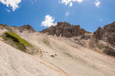 Mountain ridge with scree bellow — Стоковое фото