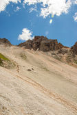 Mountain ridge with scree bellow — Stock Photo