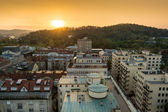 City view with a sunset — Stock Photo