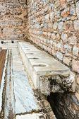 Ancient public toilets — Stock Photo