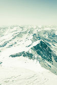 Berghang mit tracks — Stockfoto