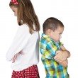 Furious girl and boy — Stock Photo
