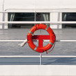 Ship detail close with life belt — Stock Photo #35435661