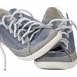 Pair of sport shoe slant with clipping path — Stock Photo