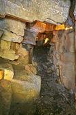 Small cave corridor — Foto Stock