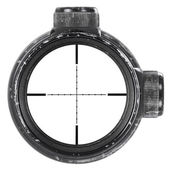 Looking through used rifle scope with Mil-Dot reticle, three clipping paths — Stock Photo