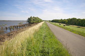 Road on dike — Stock Photo