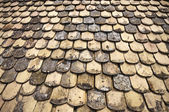 Old tiles on roof — Stock Photo