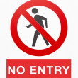 Stock Photo: No entry