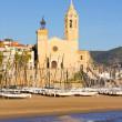 Church of Sant Bertomeu and Santa Tecla in Sitges — Stock Photo