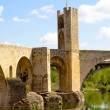 Besalu bridge (Catalonia) — Stock Photo