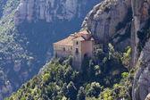 Santa cova in the Montserrat Mountain — Stock Photo