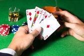 Playing poker — Stockfoto