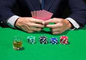 Jugar al poker — Foto de Stock