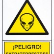 Warning aliens signal — Stockfoto