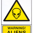 Warning aliens signal — 图库照片