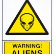 Warning aliens signal — Stock Photo