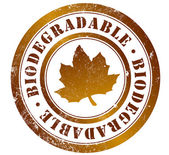 Biodegradable stamp — Stock Photo